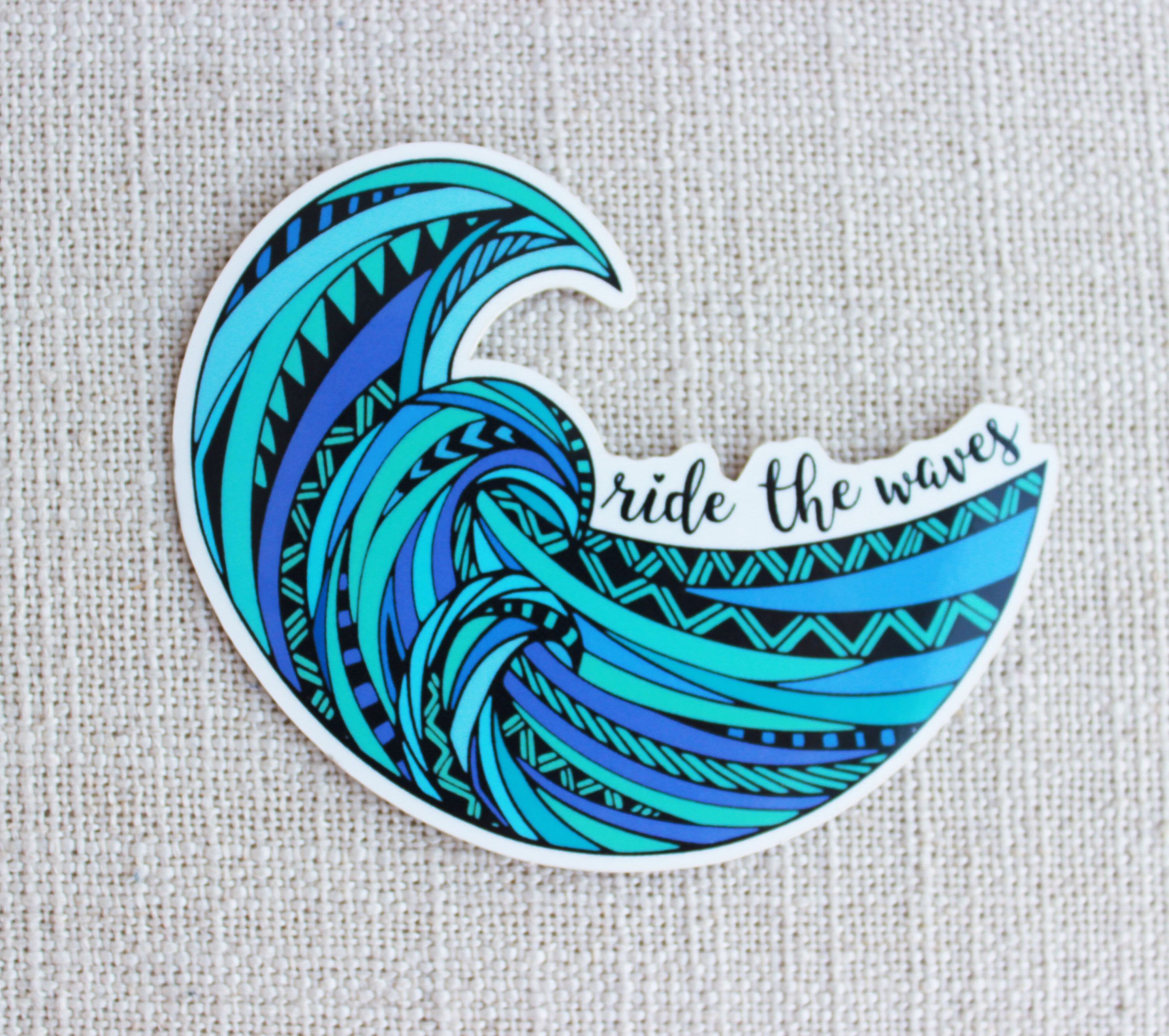 Ride The Waves Sticker Surfing Water Baby Gift Idea Etsy Surf Stickers Phone Stickers Iphone Stickers [ 2659 x 3000 Pixel ]