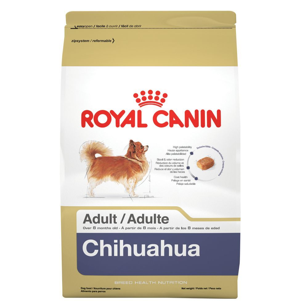 Royal Canin Breed Health Nutrition Chihuahua Adult Dog Food Size
