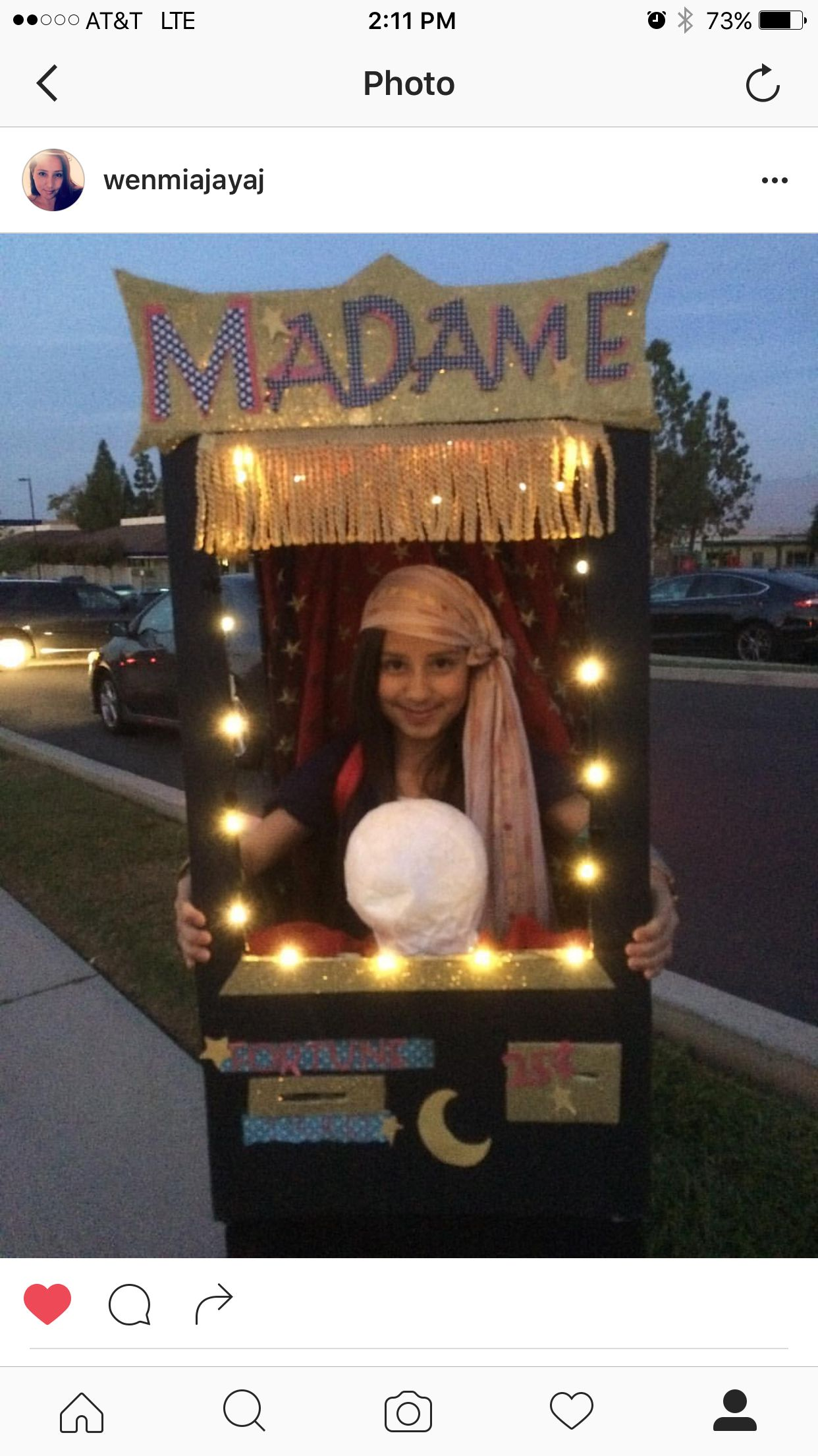 Halloween. DIY , homemade, Fortune Teller, Madame Mia 2015