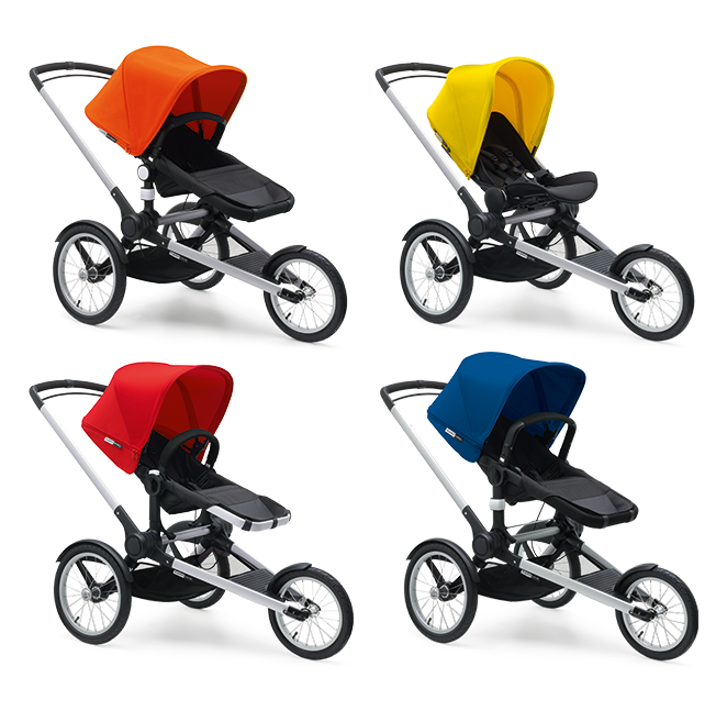 Bugaboo Runner Base with the Bugaboo stroller seats