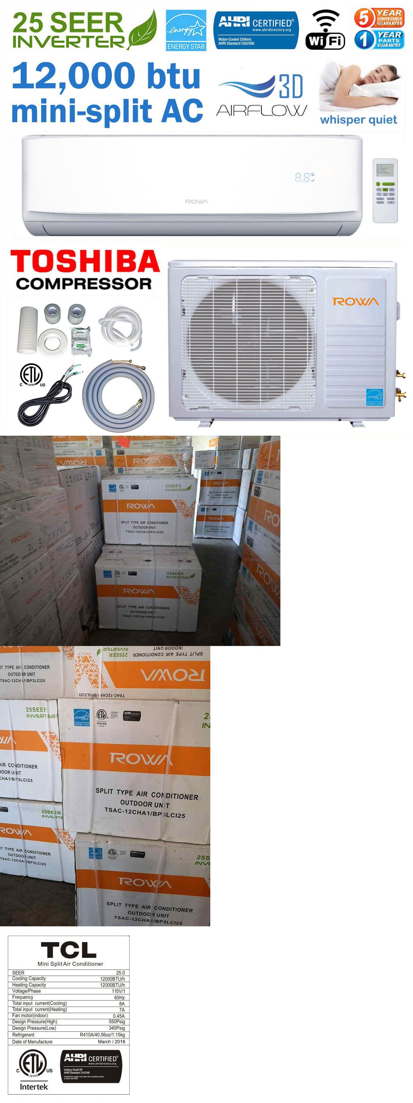 25 Seer 12000 Btu Ductless Mini Split Ac Air Conditioner Energy Star 110v Wifi Ductless Mini Split Mini Split Ac Central Air Conditioners