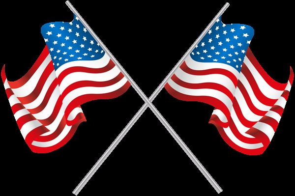 Usa Crossed Flags Png Clip Art Image Cross Flag Clip Art Art Images