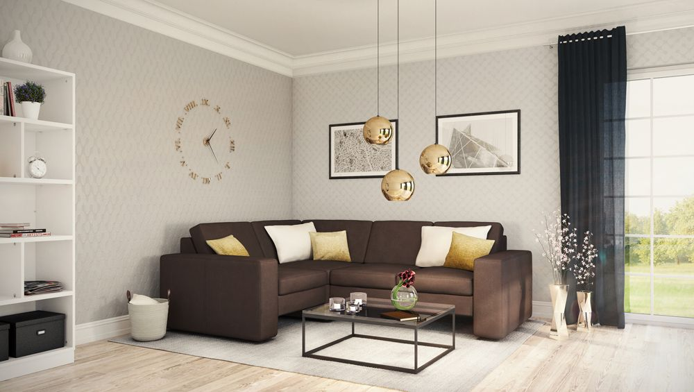 Ein Ecksofa nach Maß eignet sich besonders gut für kleine - kleine wohnzimmer