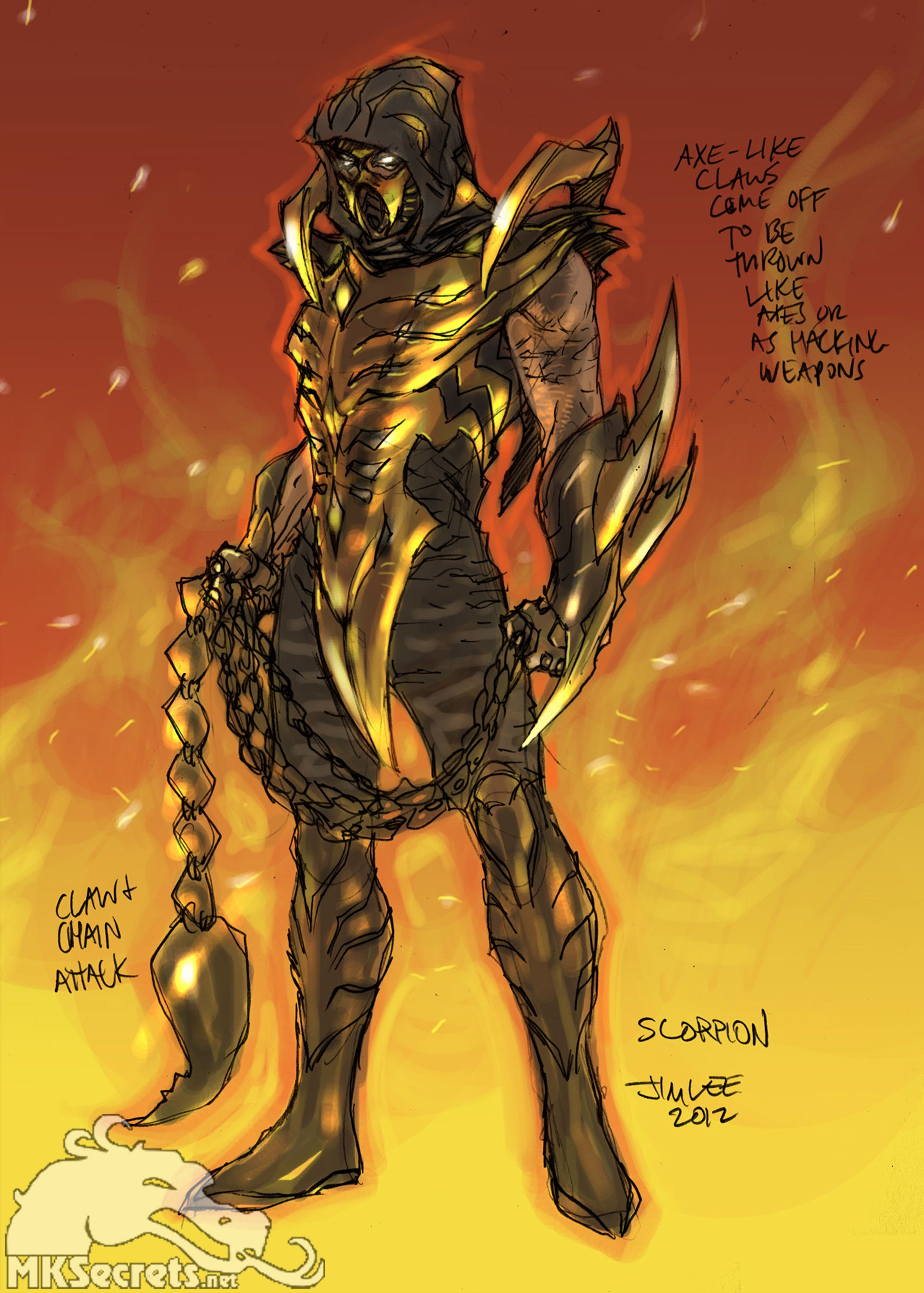 Injustice Gods among Us Scorpion Concept Art