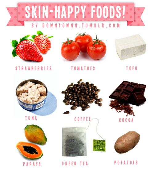 Foods for glowing healthy skin hair musts pinterest hcg foods for glowing healthy skin forumfinder Images