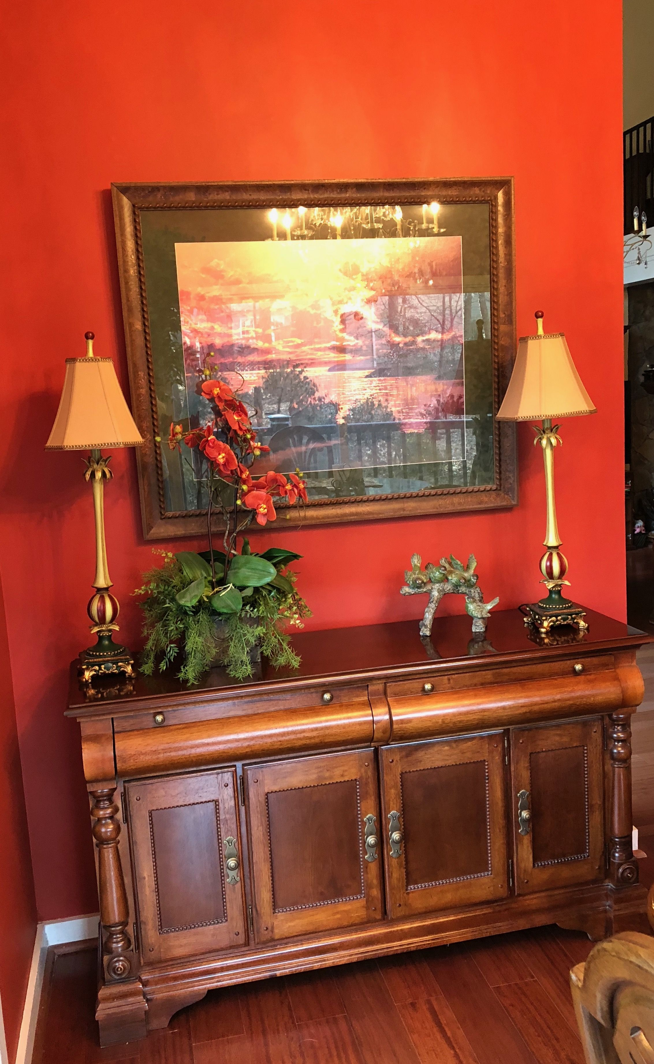 Sherwin Williams Sw 0057 Chinese Red Adds A Dramitic Color House Colors Home Decor Decor