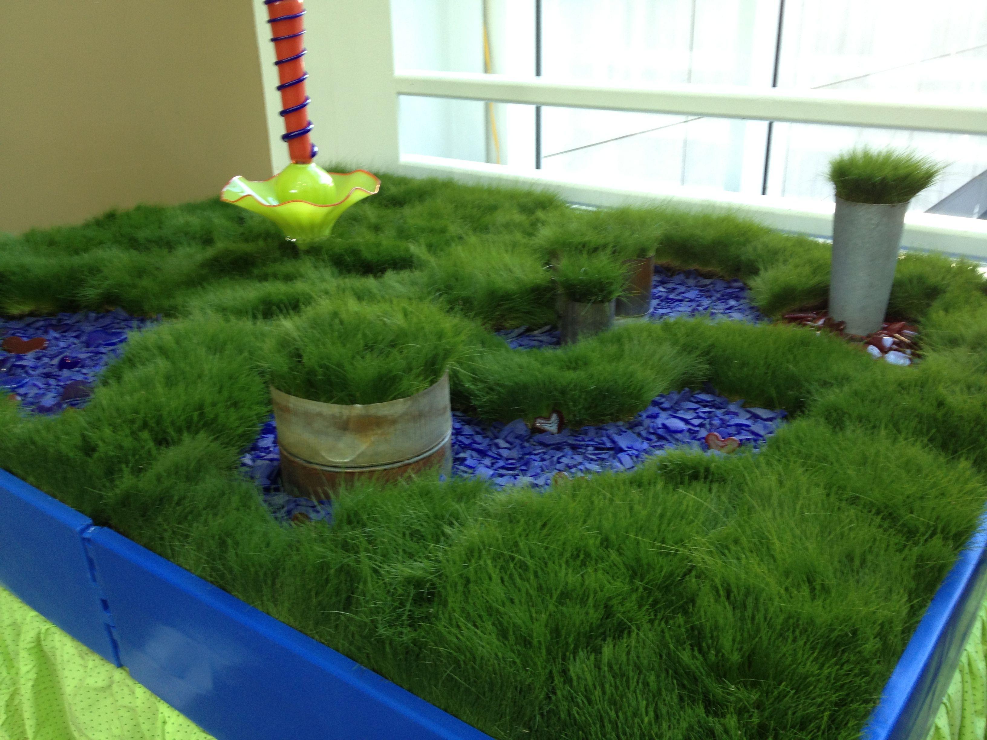 Ecolawnglassgarden at northwest flower and garden show in