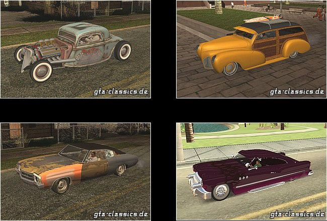 Classic Cars Customs Hotrods Ratrods Beaters For Gta San