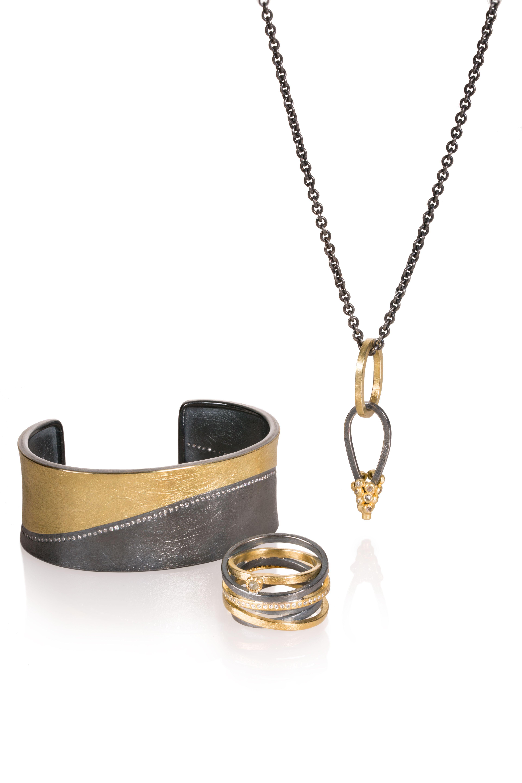 Todd reed jewelry black and gold jewelry set designer jewelry set