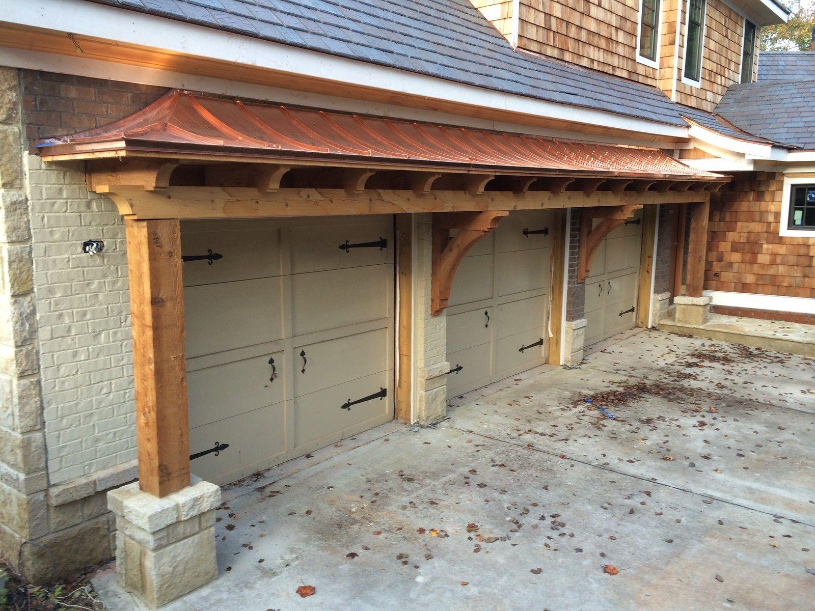 Cedar Bracket Beams Over Garage Doors Pro Wood Market