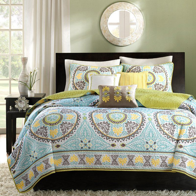 Madison Park Samara Bali 6 Piece Quilted Coverlet Set - Quilts ... : what is a quilt set - Adamdwight.com