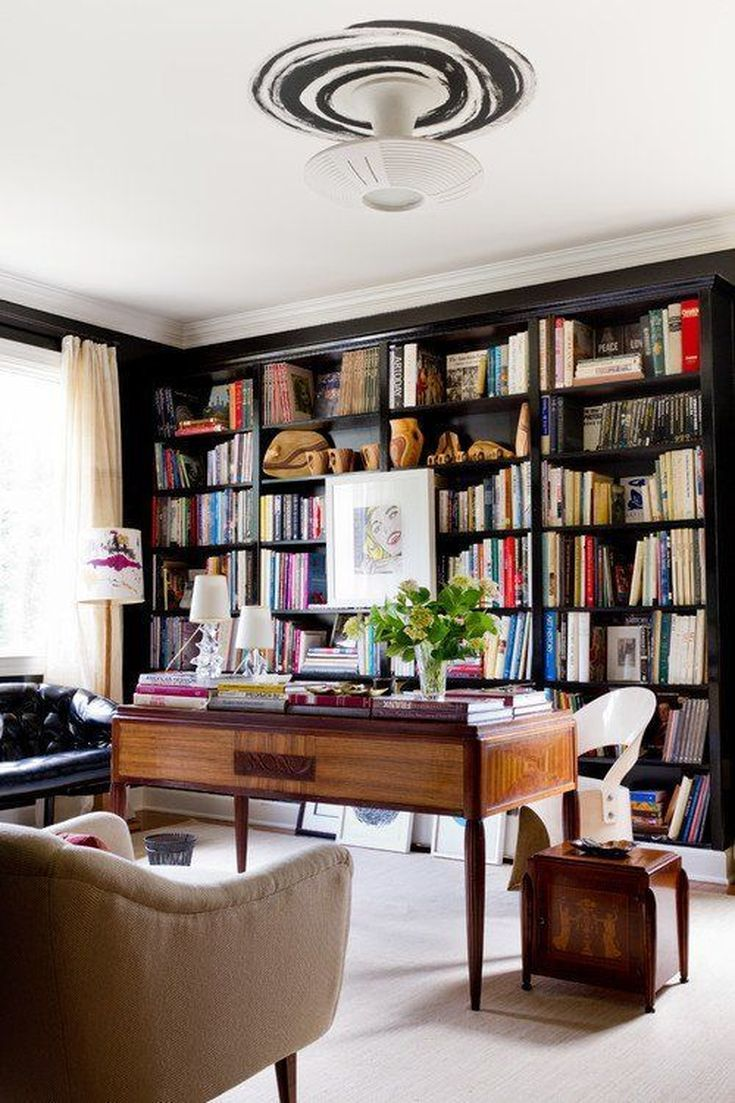 24 Stunning Home Library Design Ideas Home Library Design Home Office Design Home Libraries