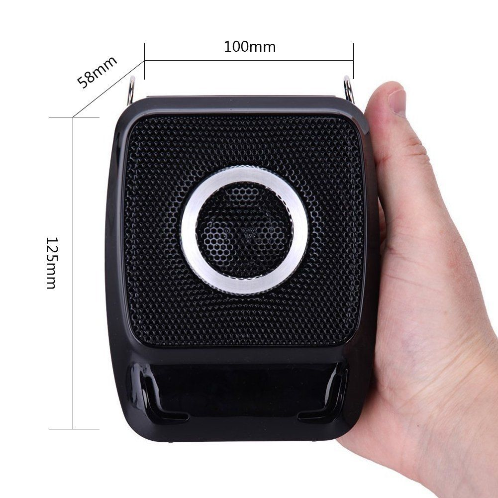Teachers Tour Guides Mini Portable Voice Amplifier Rechargeable Pa System Speaker with UHF Compact Handheld Wireless Microphone Headset for Karaoke Trainers