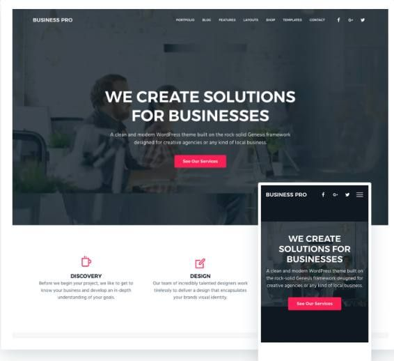 Business Pro Theme Review - StudioPress | Seo