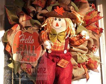 Photo of Small fall wreath, fall wall decor, fall home decor, gold wreath, sunflower wreath, custom wreath, front door wreath, welcome wreath