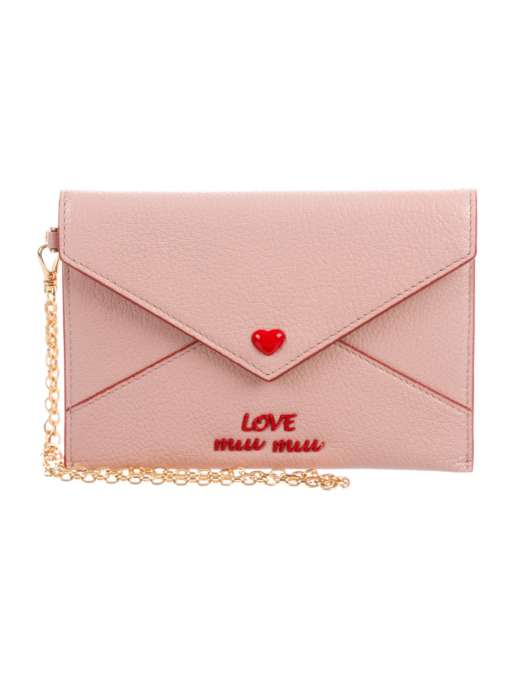 Miu Miu Madras Love Envelope Clutch - Accessories - MIU59814   The RealReal 6cc941ac7a