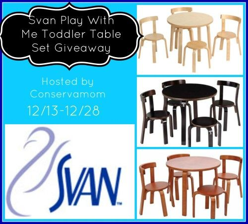 Svan Play With Me Toddler Table Set Giveaway! | Contests | Pinterest ...