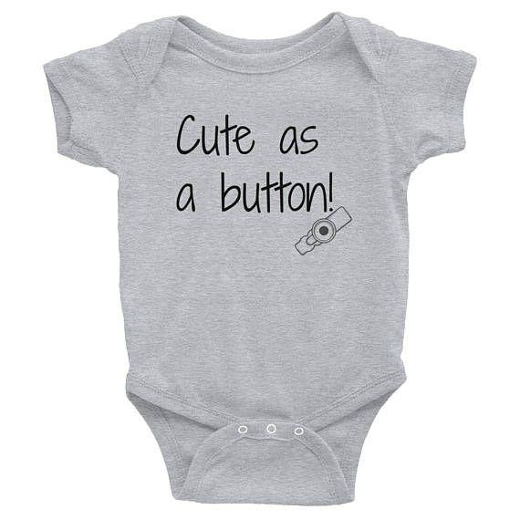 7639b7601e Cute as a Button G Tube Feeding Tube Bodysuit - Choose Color ...