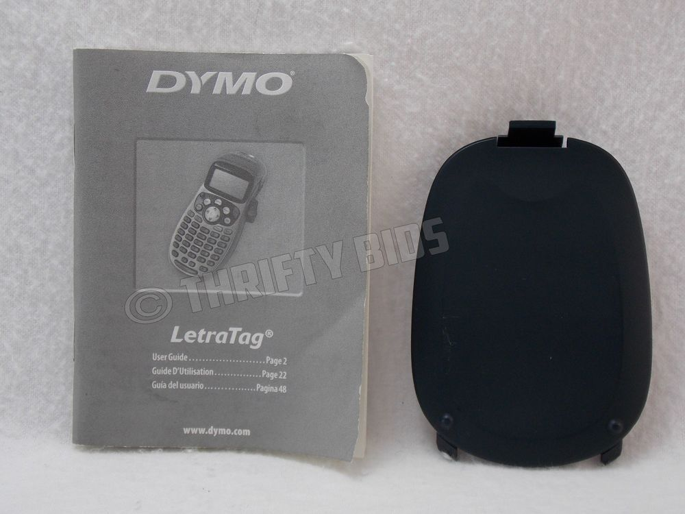 Replacement Blue Battery Door & Manual for Dymo LetraTag