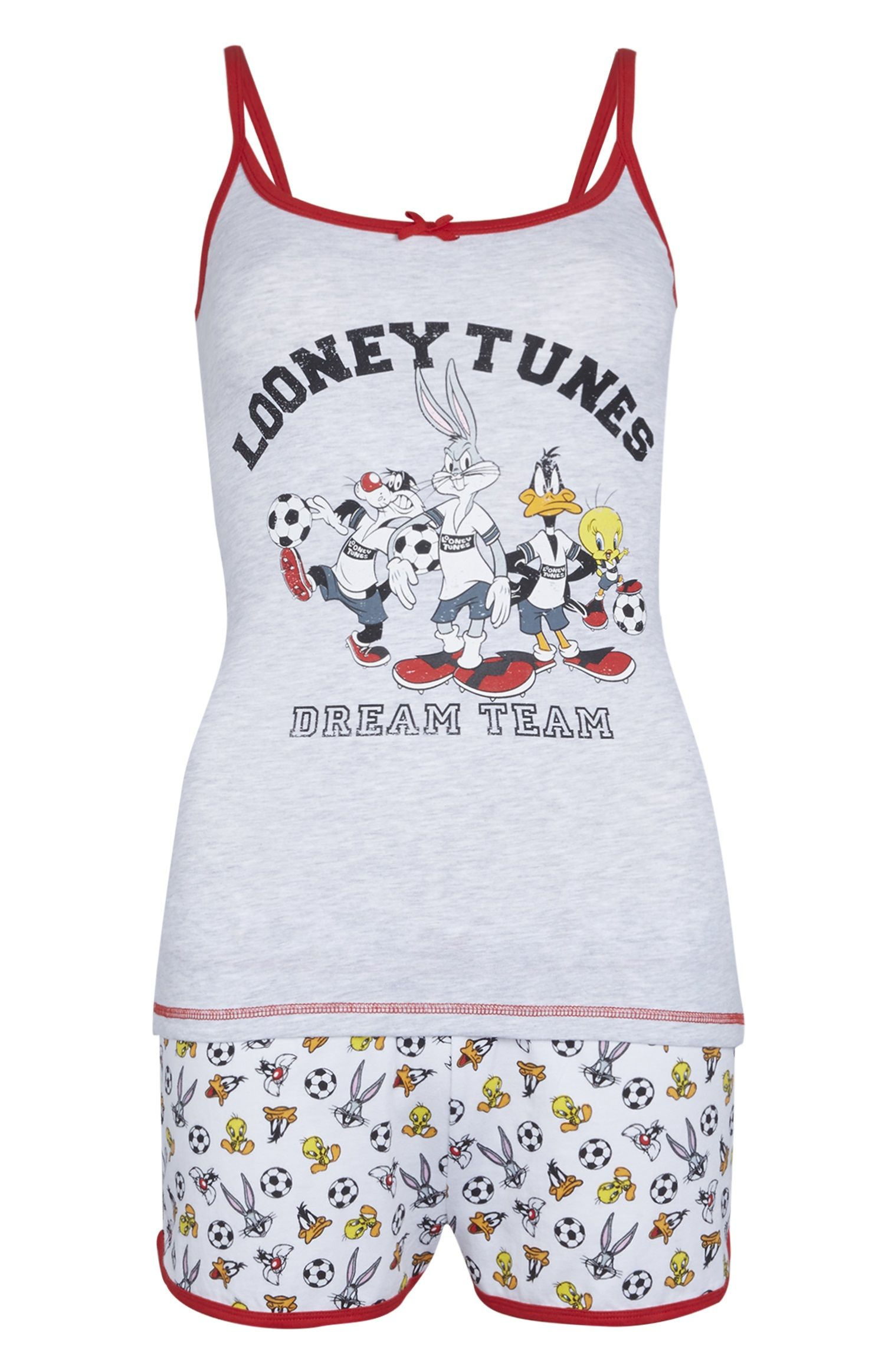 8dfcdbcfc Primark - Grey Looney Tunes Football PJ Set