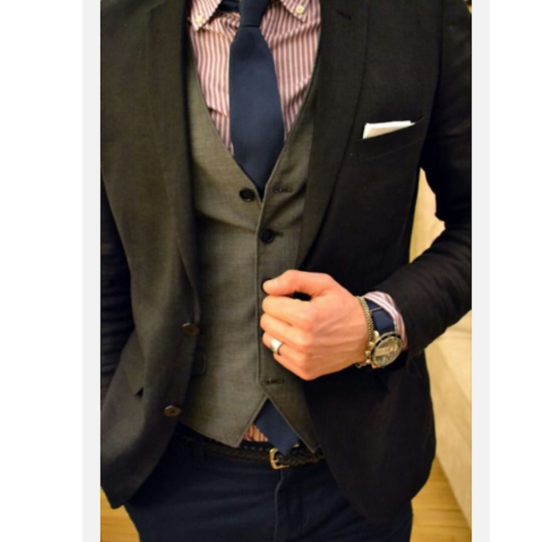 Love the way the watch, tie and jeans complement each other. www.memysuitandtie.com