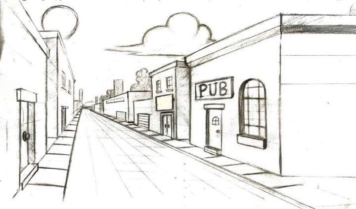 pin von ngoc vu auf 1 point perspective pinterest zeichnen. Black Bedroom Furniture Sets. Home Design Ideas
