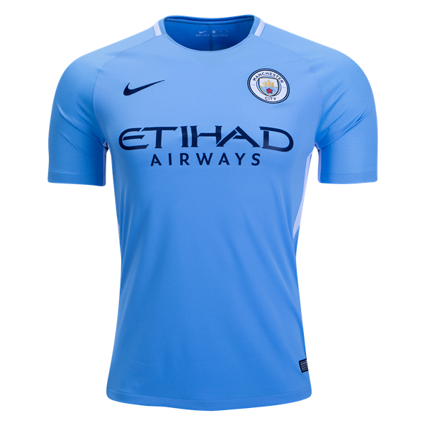 Manchester City Home Football Shirt 17 18 This Manchester City Home  Football Shirt 2017 2018 is what the blue half of Manchester will be  wearing at home ... 3a552fa96