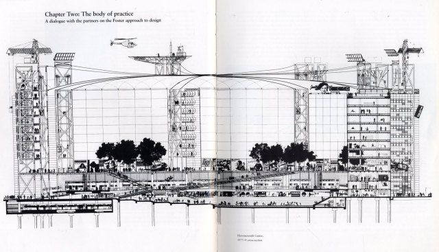 A 1970s plan for Hammersmith Broadway by Norman Foster, from Unbuilt London: The Transport Schemes That Never Were at Londonist