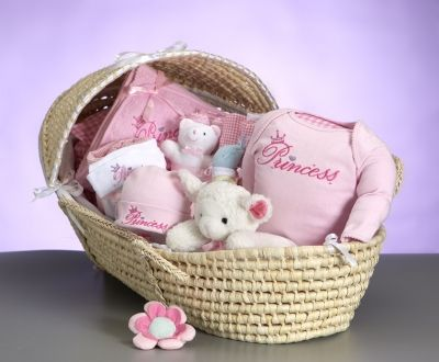 Moses Baby Shower Gift Basket (Princess) - Free Shipping