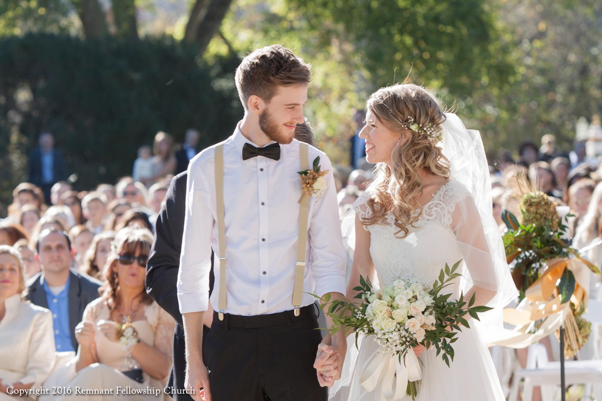 Fall outdoor wedding dresses  MaginnisLangsdon Remnant Fellowship Covenant Wedding  Fall outdoor