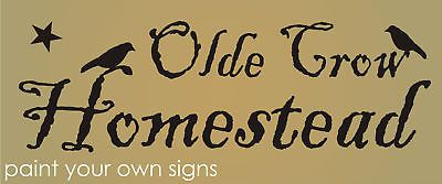 Primitive Country Stencils | Primitive Stencil, TWO OLDE CROWS COFFEE On Feed Sack 25 Pounds ...
