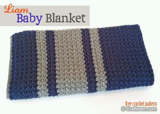 Liam Baby Blanket - free crochet pattern | Crochet ~Baby Blankets ...
