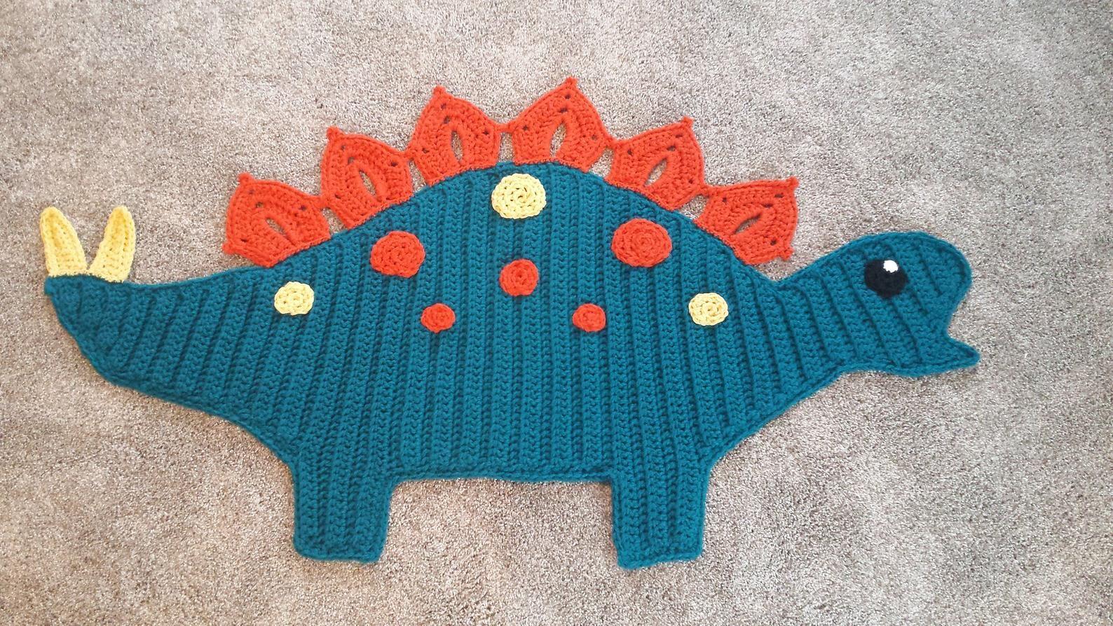 Crochet Dinosaur Rug Stegasaurus Nursery Rug Rawr Etsy In 2020 Crochet Dinosaur Dinosaur Rug Crochet