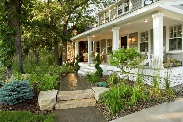 Landscaping Ideas For Front Of House With Porch Front