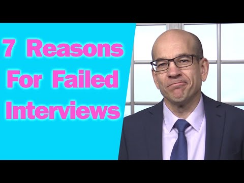 47 7 Reasons You Failed The Interview And Didn T Get The Job Youtube Get The Job Told You So Job