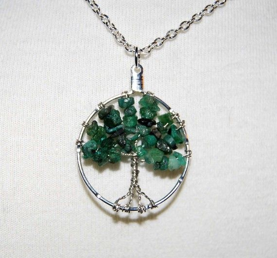 Tree of Life Emerald by SixRedSquares on Etsy, $14.00