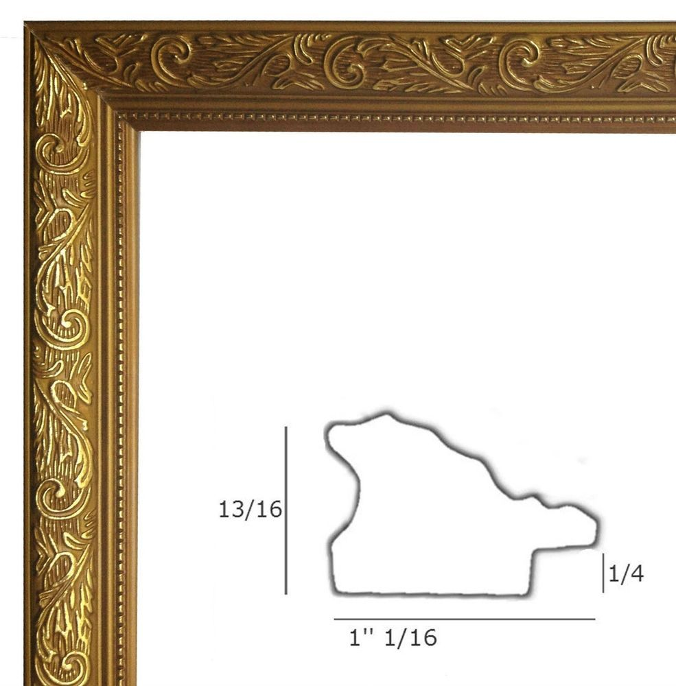 Gold Picture Frame Wood for Poster Arts or Diploma | good art, great ...