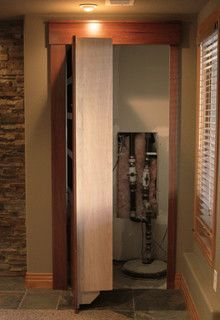 Secret Door To Hide Sump Pump And Water Softener In