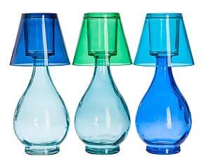 3 Photophores verre, multicolore - H27