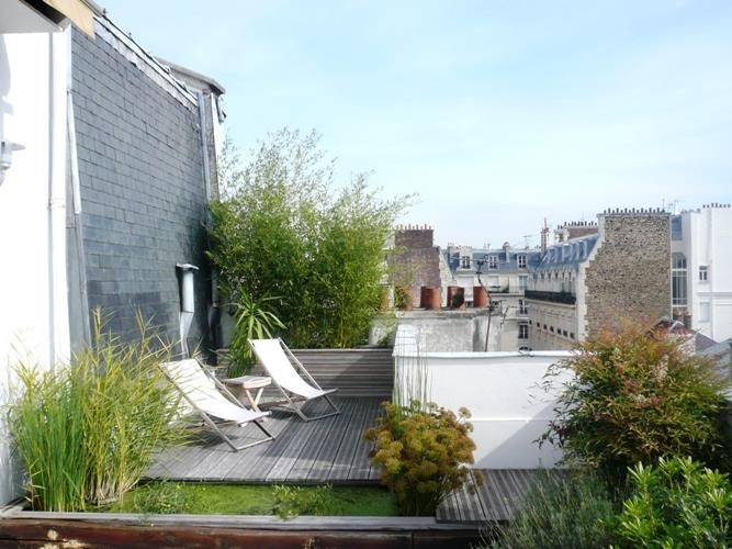 Privacy sul balcone ecco 20 idee lasciatevi ispirare small gardens future house and - Appartement toit terrasse paris ...