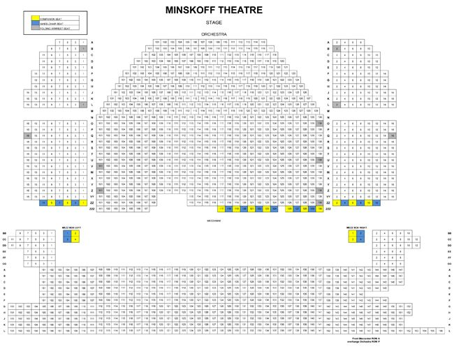 what are the best seats at the minskoff theatre