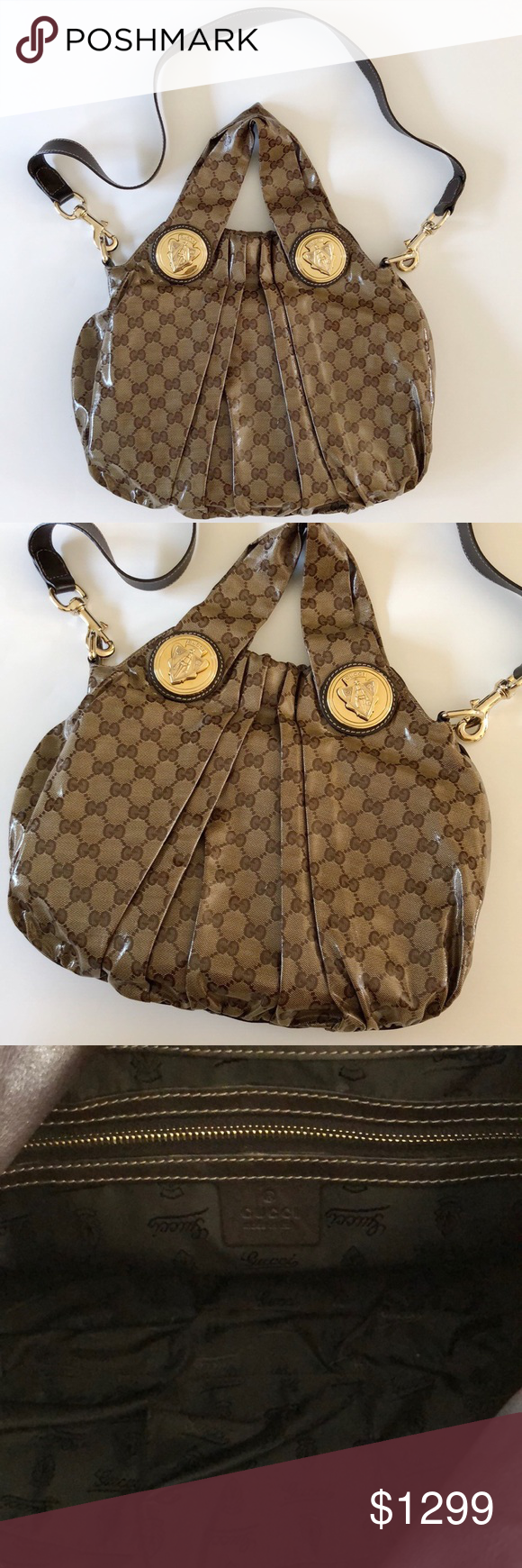 75e80877af9 Gucci Hysteria (Small) Covered canvas with Gucci monogram. Inner ...