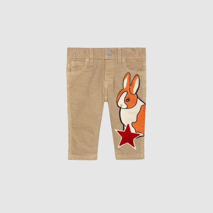 09fd81344 Gucci Baby corduroy pant with rabbit | Products | Gucci baby, Baby ...