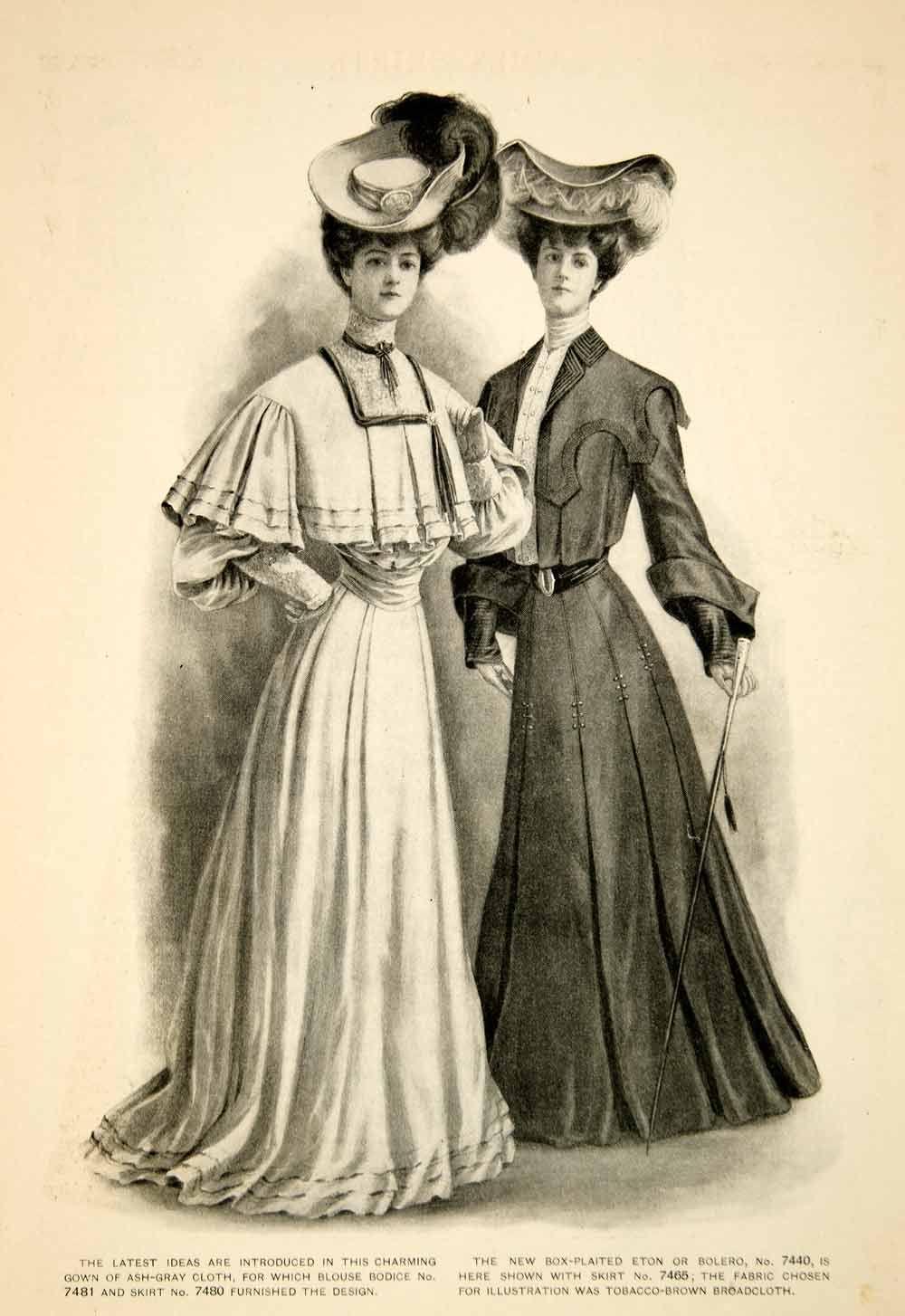 d0377a6d257 Details about 1904 Print Fashion Costume Clothing Edwardian Women ...