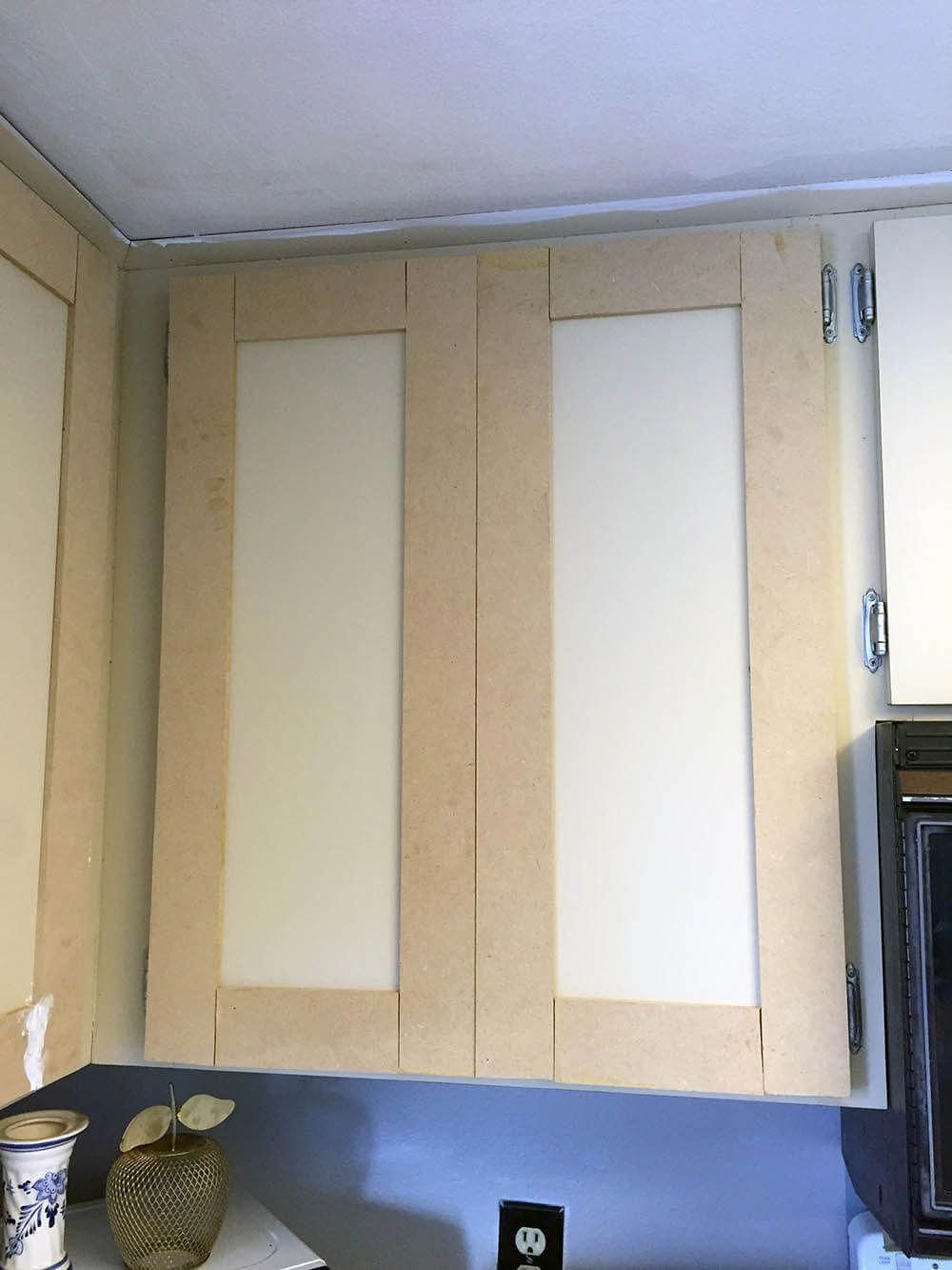 Update Your 80s Laminate Cabinets With Classic Shaker Style Doors Diy Your Kitchen Upgrade With This B Diy Cabinet Doors Laminate Cabinets Diy Kitchen Remodel