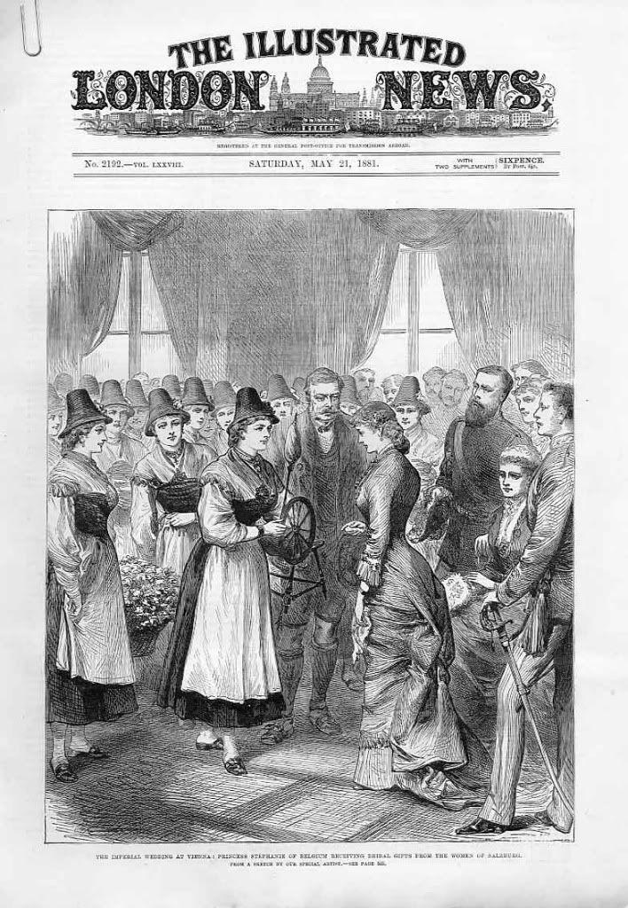 Stephanie Receiving Bridal Presents Ungarische Monarchie Osterreichisch Ungarische Monarchie Belgien