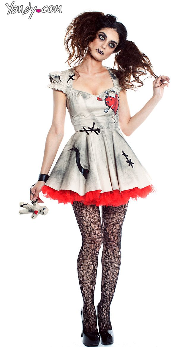 Voodoo Doll Costume - Mardi Gras party dress up ideas for the murder