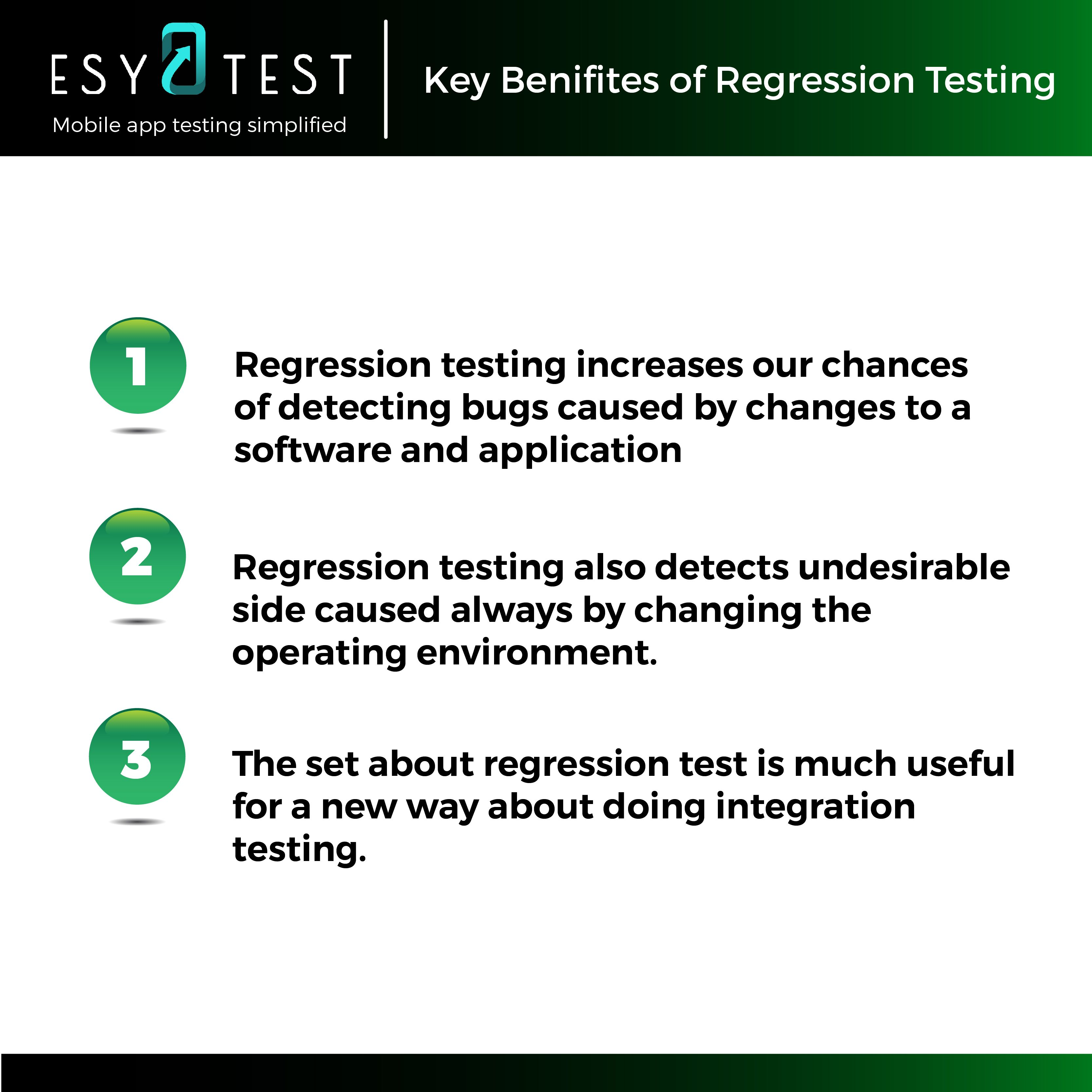 Key Benefits Of Regression Testing Regressiontesting Apptesting