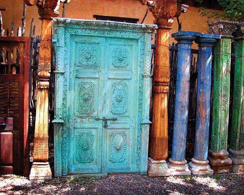 Old Blue Door Taos New Mexico & Old Blue Door   Doors