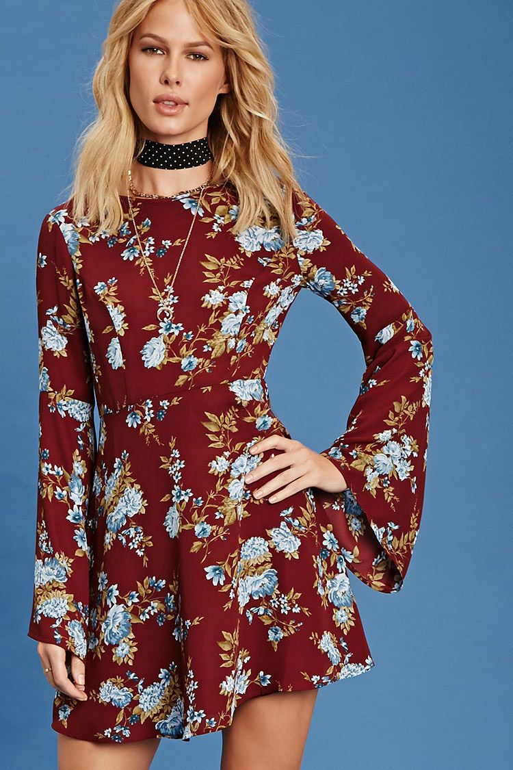 Forever contemporary a woven dress featuring a floral print